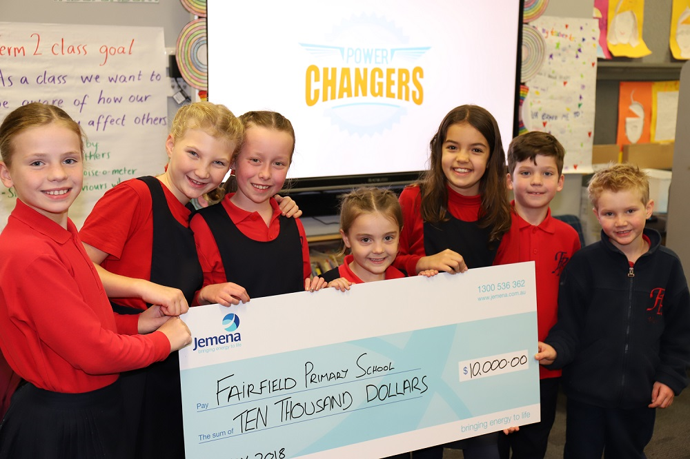 Fairfield Primary School students receiving funds raised from households