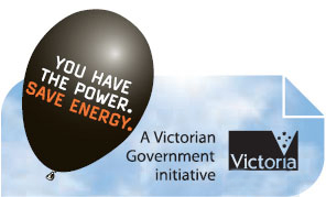 Black balloon logo: You have the Power. Save Energy. A Victorian Government initiative